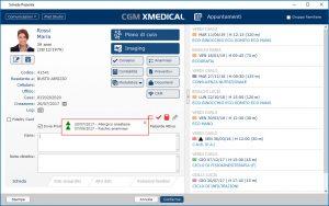 Scheda paziente - CGM XMEDICAL